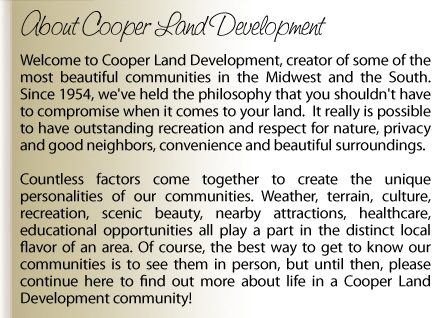 ABOUT COOPER LAND DEVELOPMENT